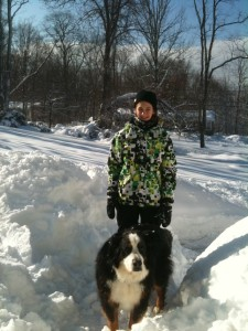 Old school parenting: Snow days puts kids to work shoveling.