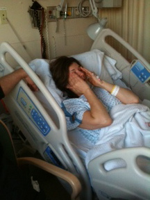 Back injury lands writer in hospital
