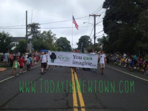 The Avielle Foundation marching in Newtown Labor Day Parade