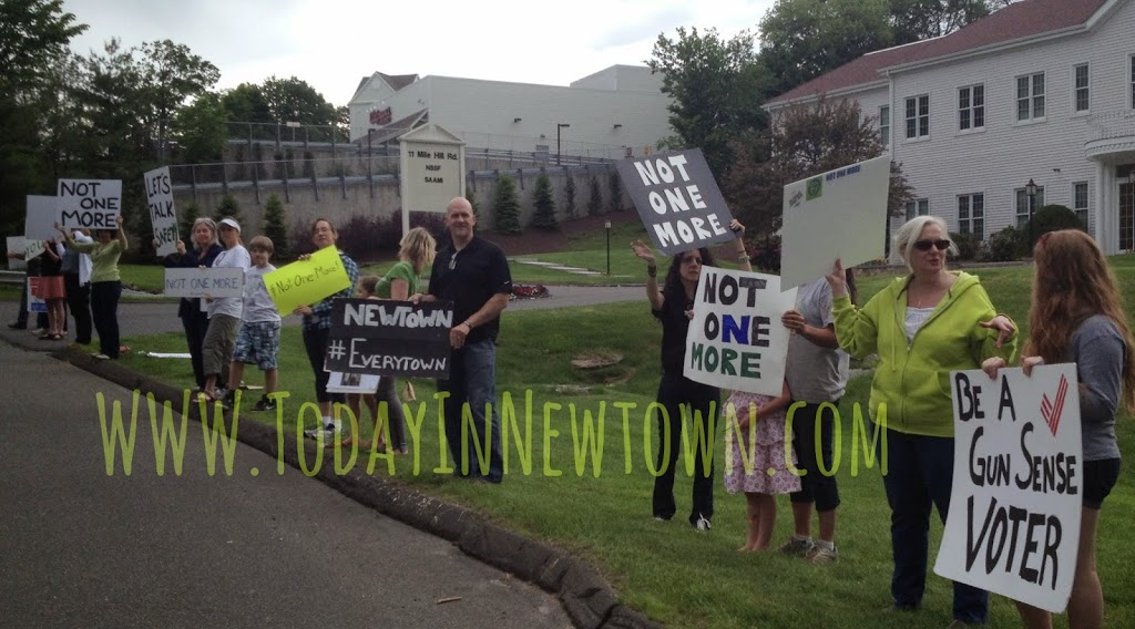 #NotOneMore protest outside Newtown based gun lobby org