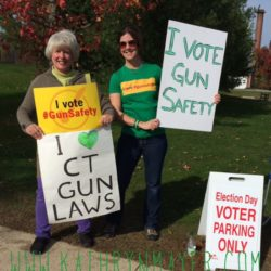election day poll standing for gun safety
