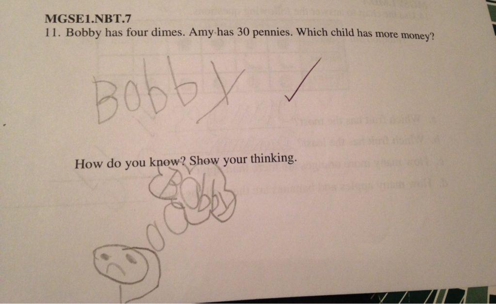 little boy explains his thought process