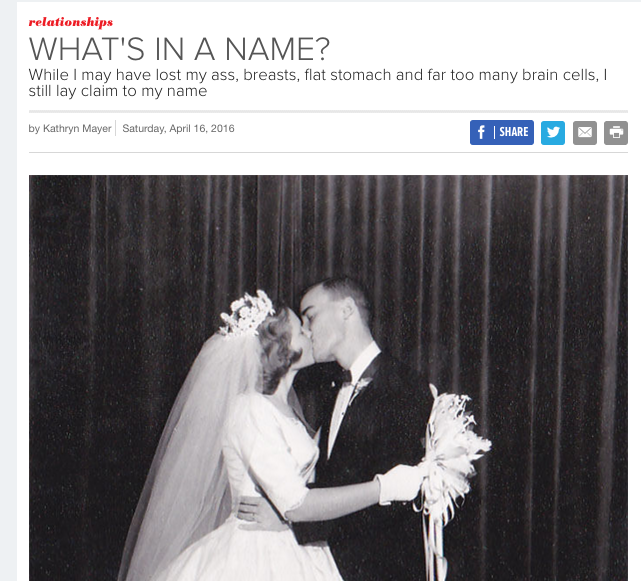Kate Mayer on Purple Clover about maiden names