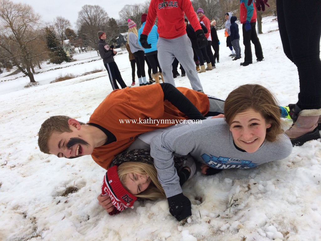 Snow doesn't stop capture-the-flag tradition