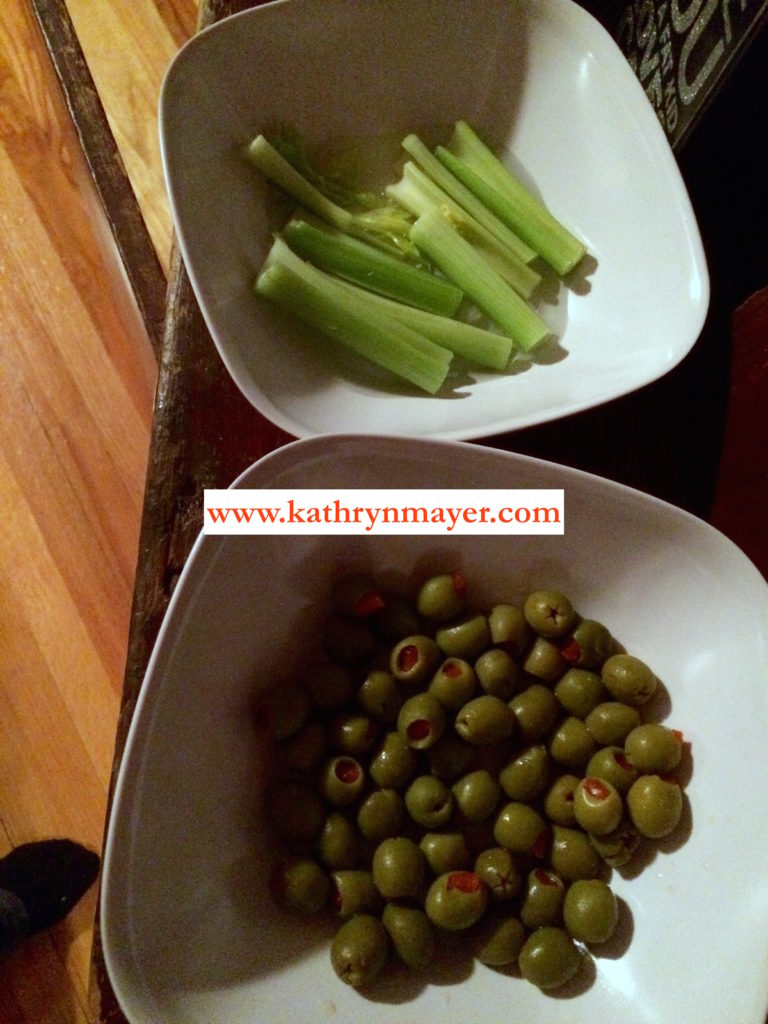celery and olives
