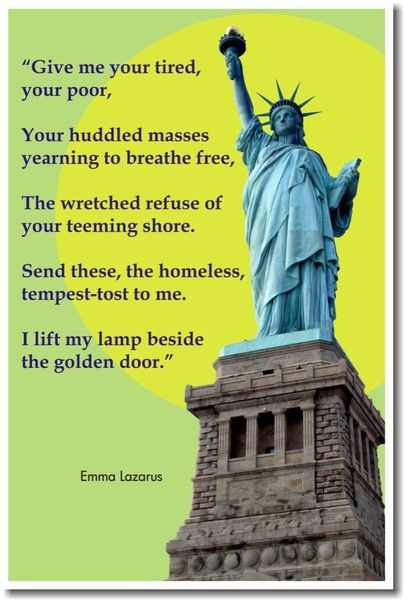 Trump should go read the rock by the Statue of Liberty