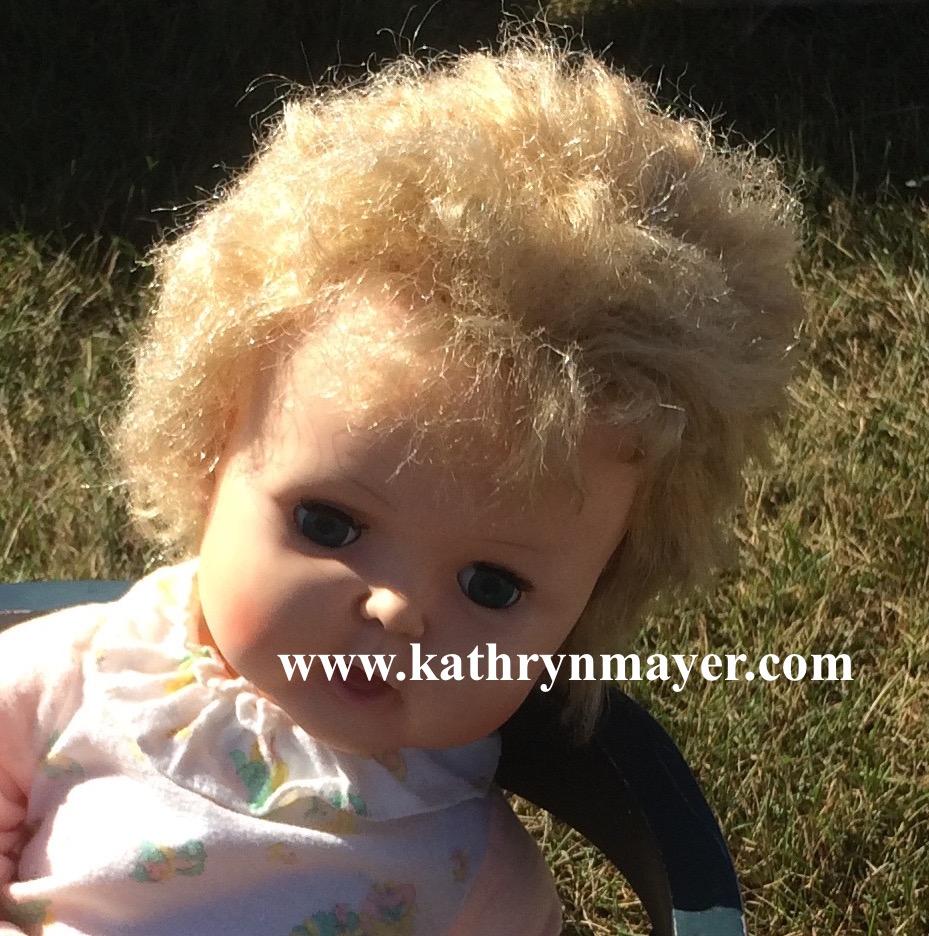 Not American Doll Girl hair