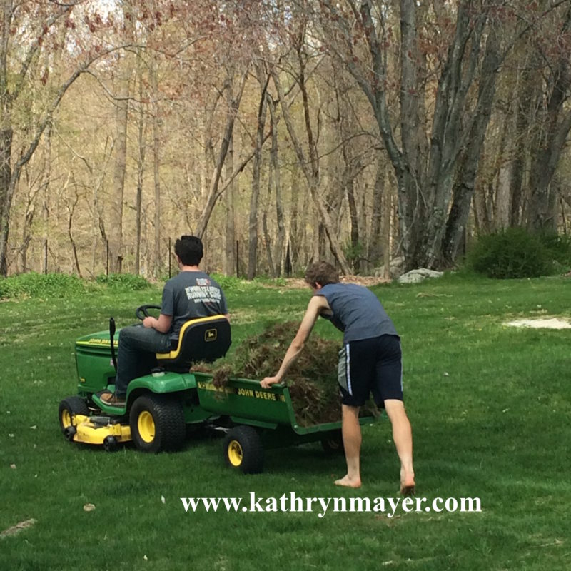How the green grass grows: kids chores make for good growing