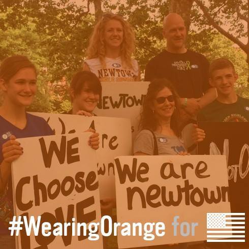 Kate Mayer on #wearorange day