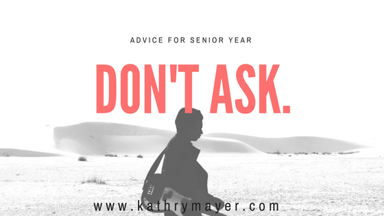 advice for senior year and pregnant women