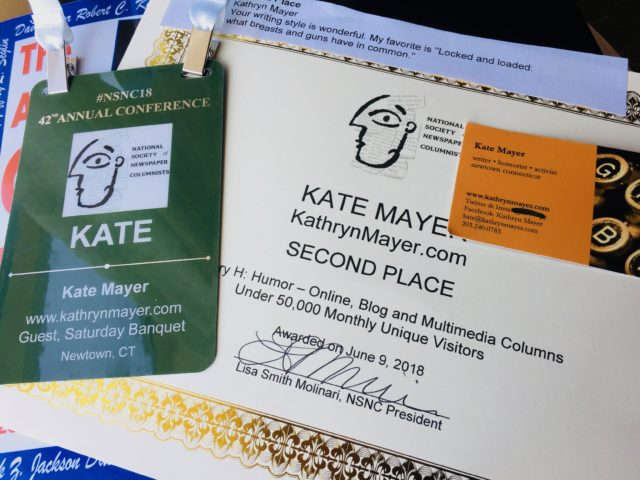 National Award winning columnist is Newtown writer Kathryn Mayer