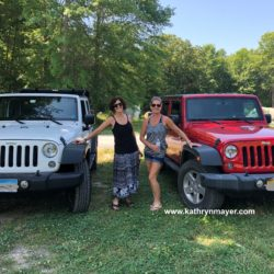 Midlife women drive jeeps