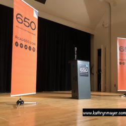 Stage at Read650 storytelling event